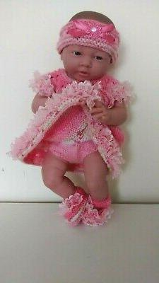 """AMERICAN GIRL BITTY BABY HAND KNITTED 15"""" CLOTHES"""