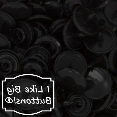 black plastic resin snaps crafts baby cloth