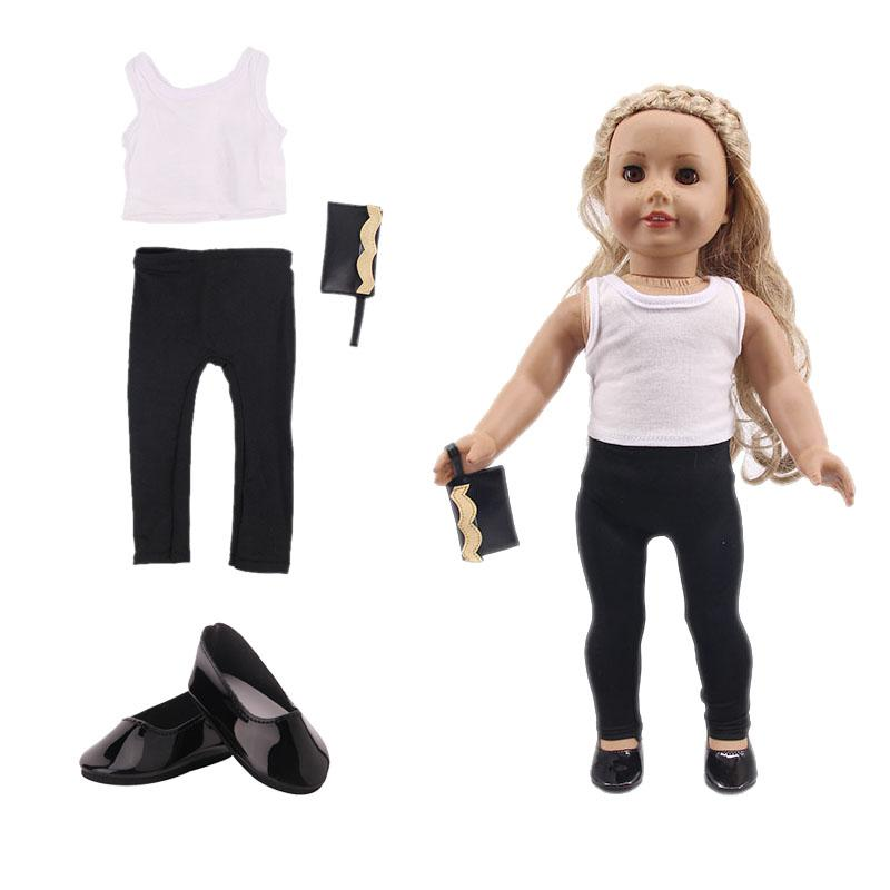 LUCKDOLL Three-Piece Suit Fit <font><b>Baby</b></font> Clothes Accessories,Girls
