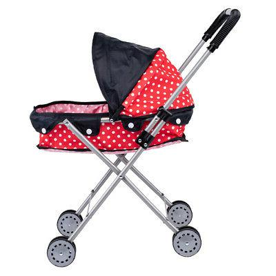 Cute Large-capacity Dotted Baby Doll Stroller Gift for Kids,