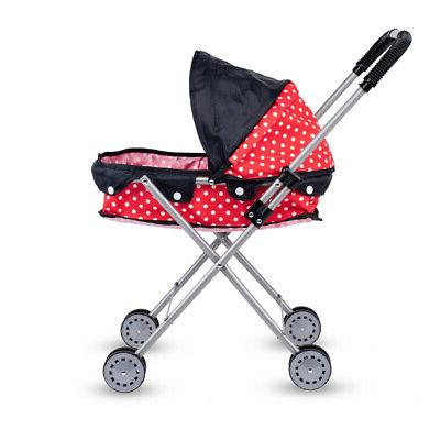 Cute Large-capacity Dotted Doll Stroller - Gift Kids,