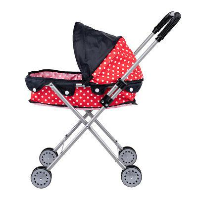 Cute Dotted Doll Stroller Gift for Kids,