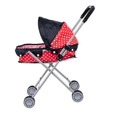 cute large capacity dotted baby doll stroller