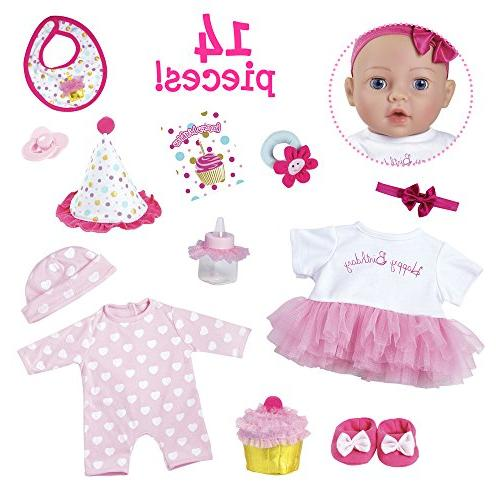 """Adora Baby Gift Set"""" 16 Inch Baby Doll Holiday, Christmas, Gift for Child 1+"""