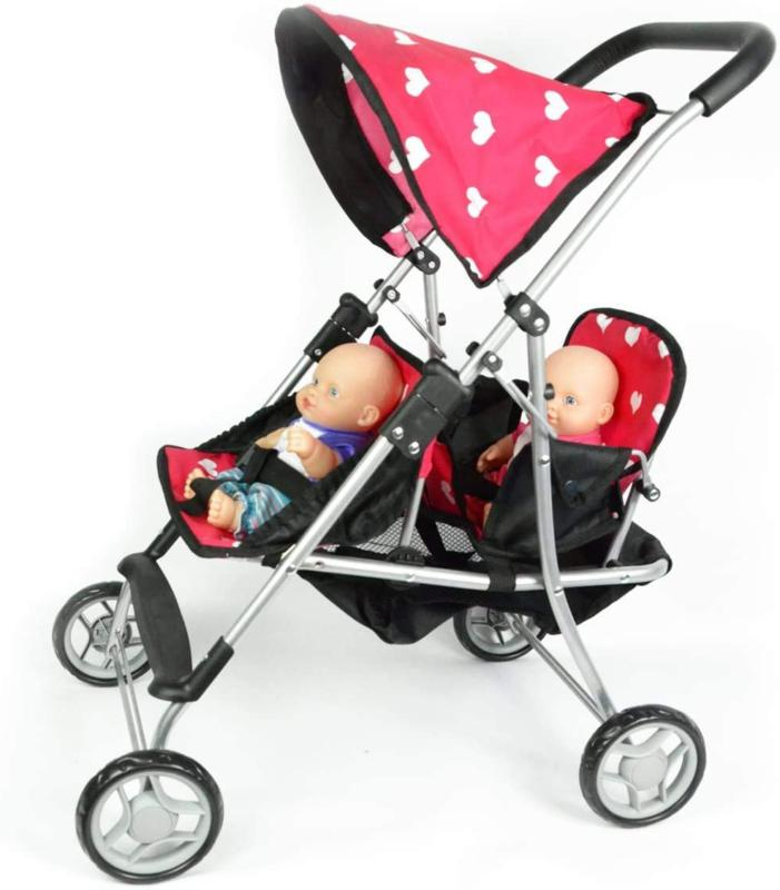 DOLL TWIN STROLLER Dolls Carrier Toys Kids THE NEW YORK COLLECTION