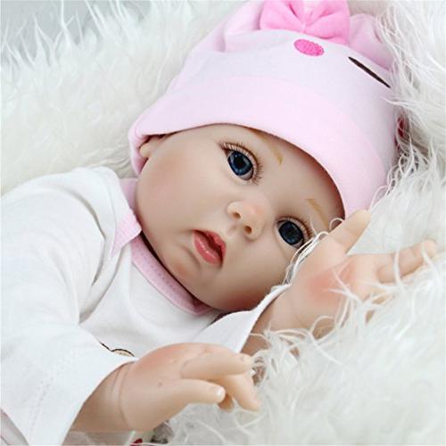 TraveT Art Dolls Realistic Lifelike Newborn Silicone Reborn Gift Baby Handmade Full