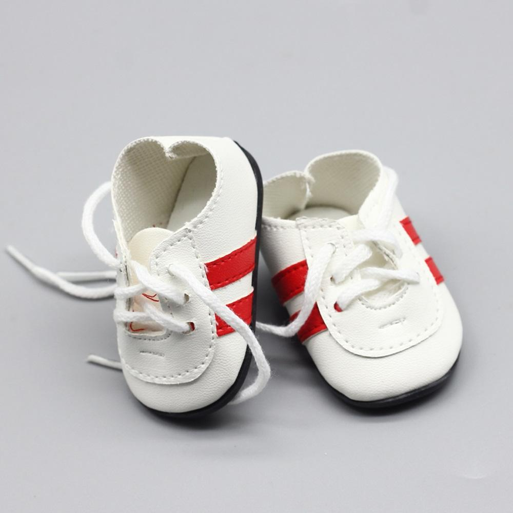 Fashionable white sneakers cm <font><b>dolls</b></font>