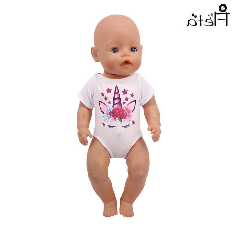 <font><b>Doll</b></font> Clothes <font><b>Accessories</b></font> Unicorn Jumpsuit American&43Cm Birthday