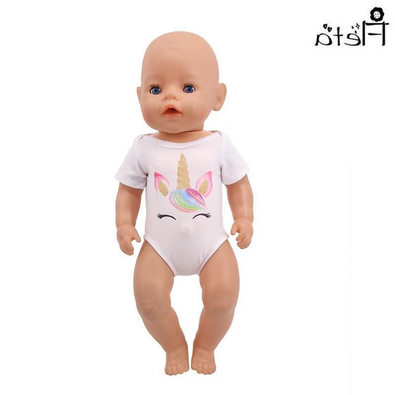 <font><b>Doll</b></font> Clothes <font><b>Accessories</b></font> Unicorn Jumpsuit For American&43Cm Birthday