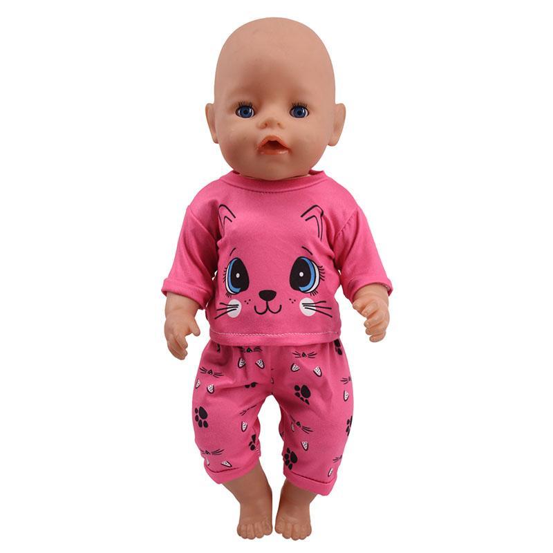 <font><b>Doll</b></font> 15 T-Shirt+Skirt/Pants <font><b>Dress</b></font> 18 Cm Baby <font><b>Our</b></font> Girl`s