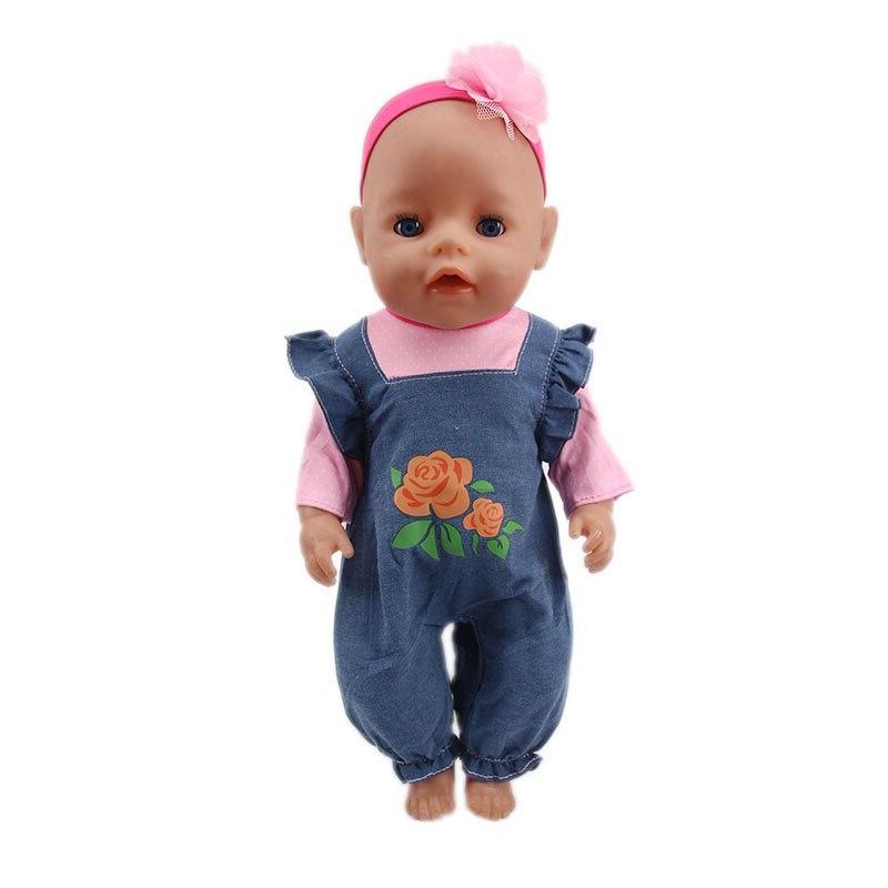 <font><b>Doll</b></font> T-Shirt+Skirt/Pants 18 American Cm <font><b>Doll</b></font> <font><b>Our</b></font> Girl`s