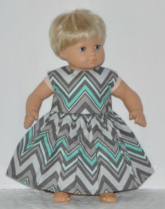 gray zig zag dress for american girl