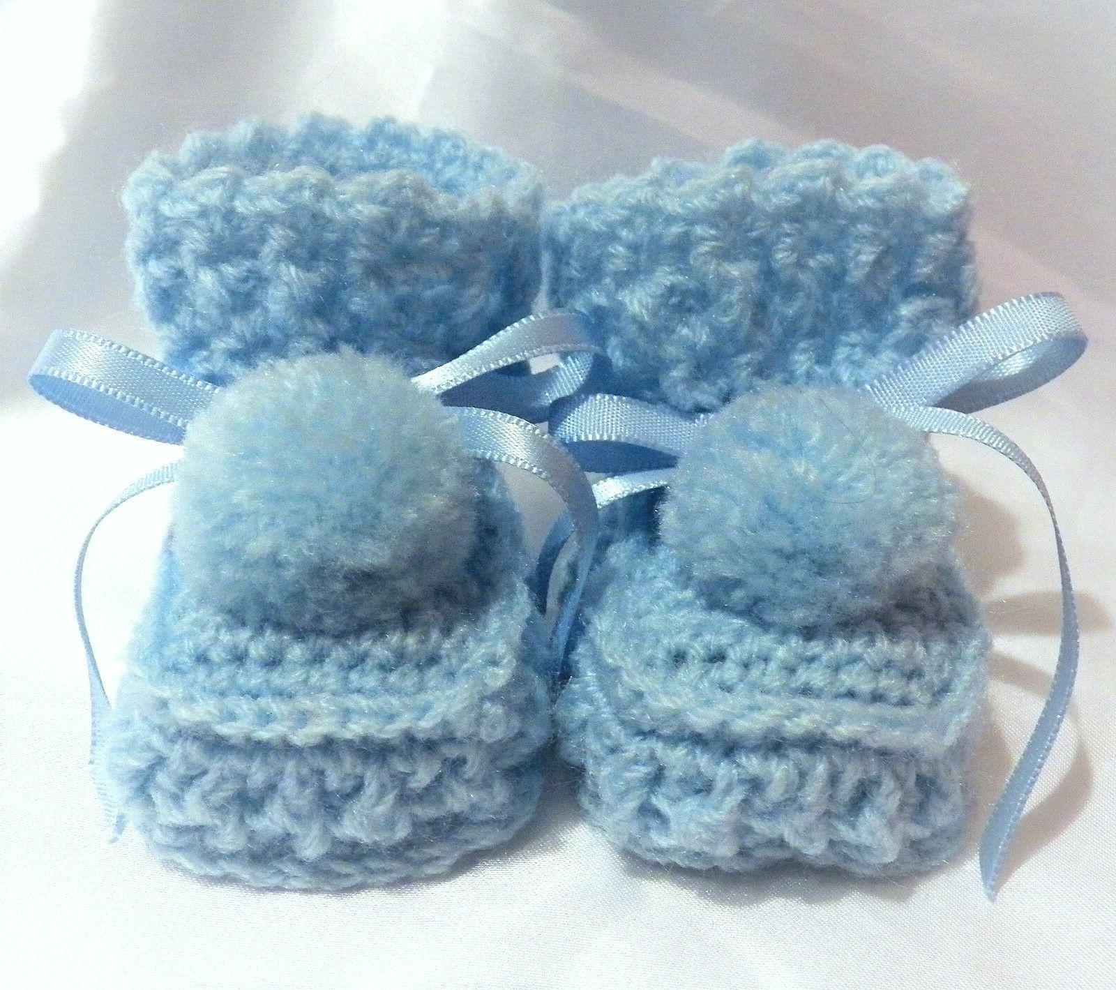 handmade crochet baby reborn dolls booties shoes