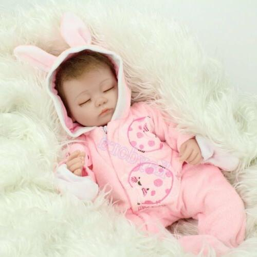 "16""Realistic Newborn Silicone Reborn Baby Kid Toy"