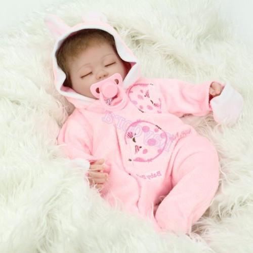 "16""Realistic Newborn Silicone Reborn Baby Kid"