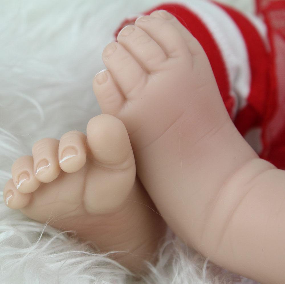 "22"" Reborn Dolls Gift Soft Silicone Girl Doll Toys"
