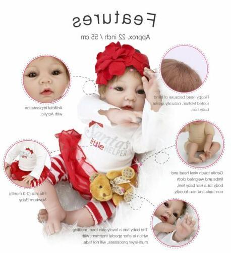 "22"" Handmade Dolls Gift Silicone Lifelike Girl Doll Toys"