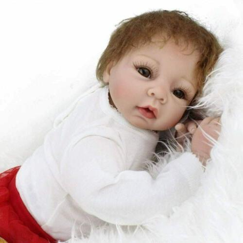 "22"" Handmade Dolls Gift Soft Vinyl Silicone Lifelike Toys"