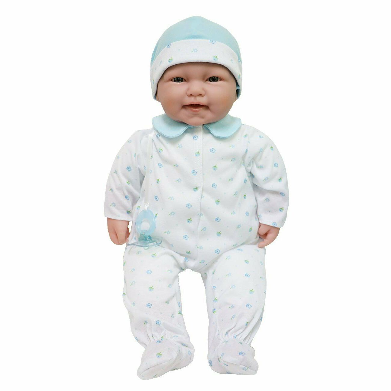 JC Toys, La Baby 20-inch Blue Washable Soft Body Boy Baby Do