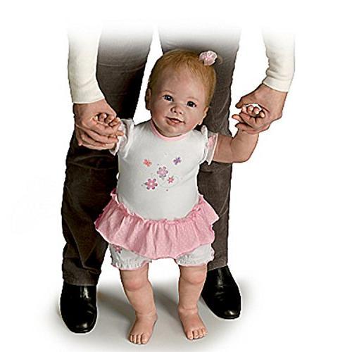 lifelike interactive walking baby doll