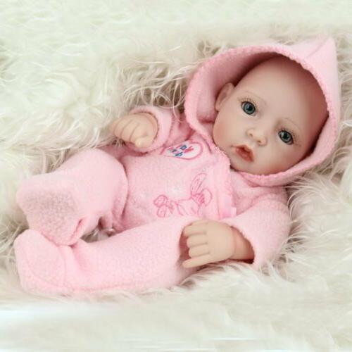 "10"" Silicone Reborn Dolls Newborn Toy"