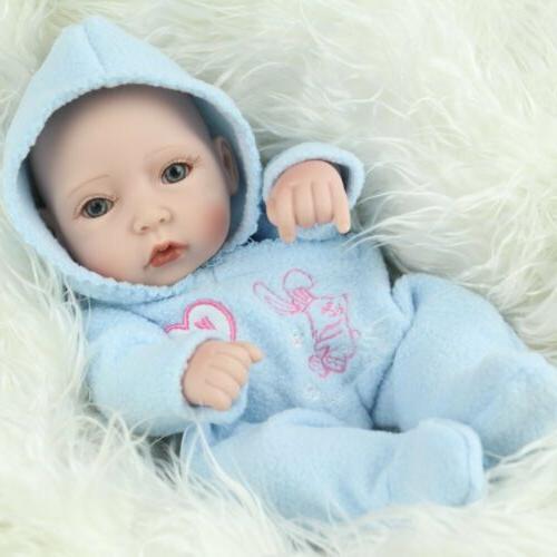 "10"" Silicone Reborn Baby Dolls Newborn Toy"