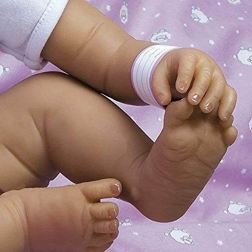 Paradise Galleries Girl Doll in Silicone Vinyl, Real Hispanic/Biracial Baby Bundles: Arrived, 7-Piece Ensemble