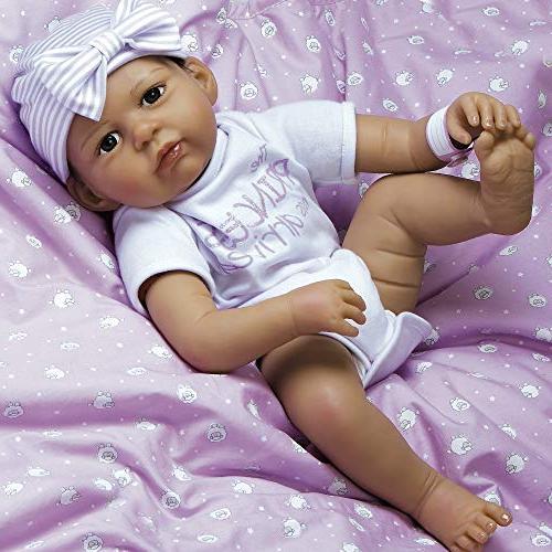 Paradise Reborn Girl in Silicone Vinyl, Life Baby Bundles: Princess Arrived, 7-Piece