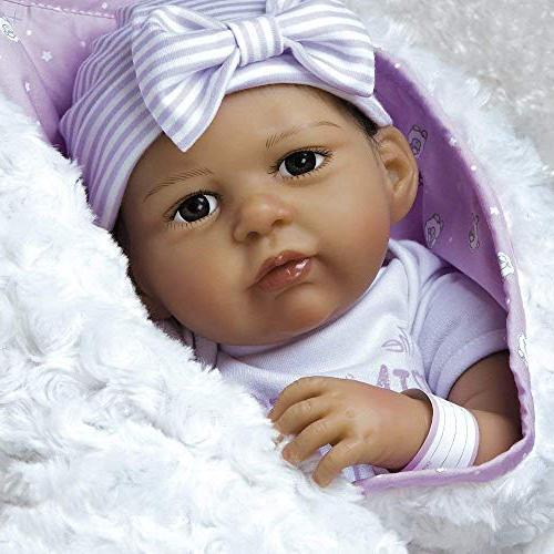 Paradise Galleries Reborn Girl Doll Vinyl, Life Baby Bundles: Princess Arrived,