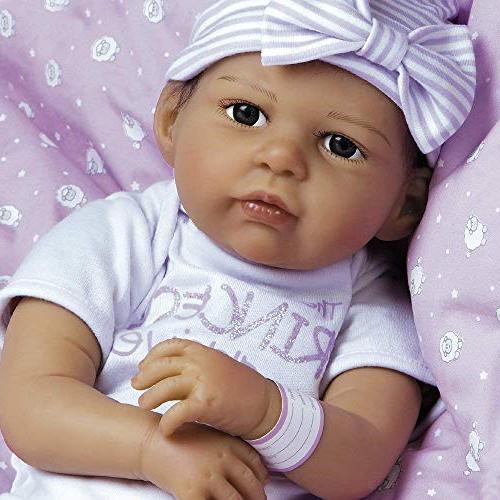 Paradise Galleries Girl Silicone Vinyl, Life Hispanic/Biracial Baby Princess Arrived,