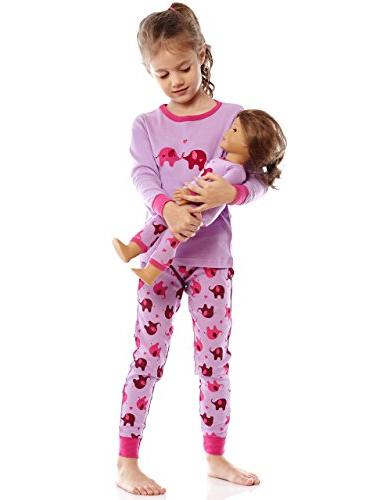 Leveret & Girl 2 Pajama Set Cotton