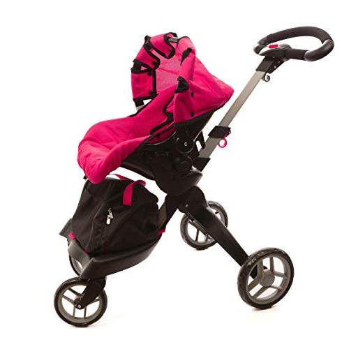 "Mommy & Doll Stroller with Wheels and Handle. 31"" Included"