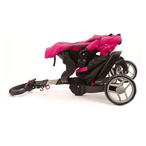 "Mommy & SoCutie Doll Stroller with Wheels and Adjustable 31"" Carriage Included"