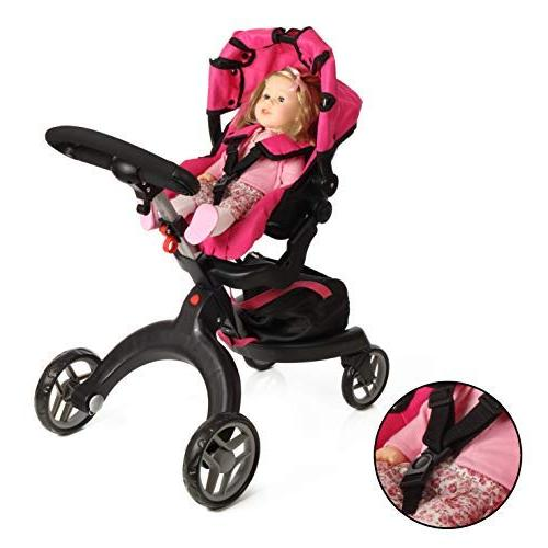 "Mommy & Doll Swiveling Wheels Adjustable Handle. 31"" Included"