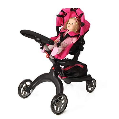 "Mommy & Me SoCutie Doll Stroller with Swiveling Wheels 31"" Included"
