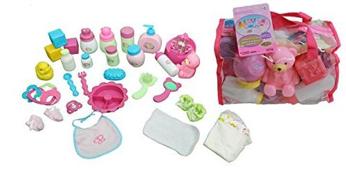 Mommy & Me Doll Care Set With Bag