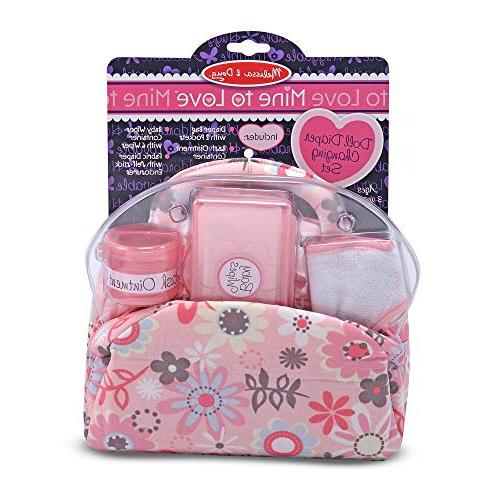 "Melissa & to Love Set, & Fabric Bag Compartments, Self-Stick Diaper, 10.75"" W L"