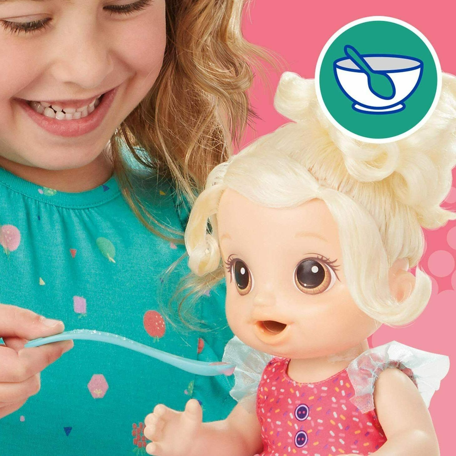 Mixer Baby Strawberry Shake,Accessories, Blonde Hair Ages 3