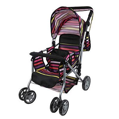 mommy twin doll pram back swiveling wheels free carriage bag