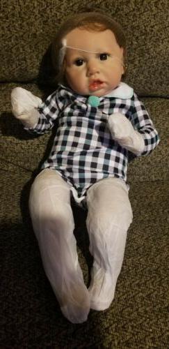 """NEW 22"""" Reborn Happy Day  baby dolls Boy cloth body includes"""