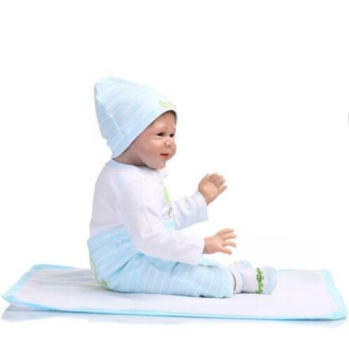 NPK Realistic Baby Vinyl Silicone Newborn Cute Boy