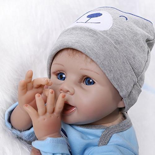 NPKDOLLS Reborn Soft Silicone Vinyl Boy Mouth Cute Toy Doll Gift Ages 3+