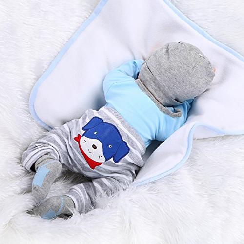 NPKDOLLS Soft Boy 22inch Mouth Toy Doll Ages 3+