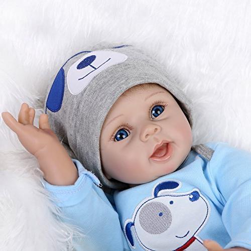 NPKDOLLS Reborn Soft Silicone Boy Mouth Doll Ages 3+