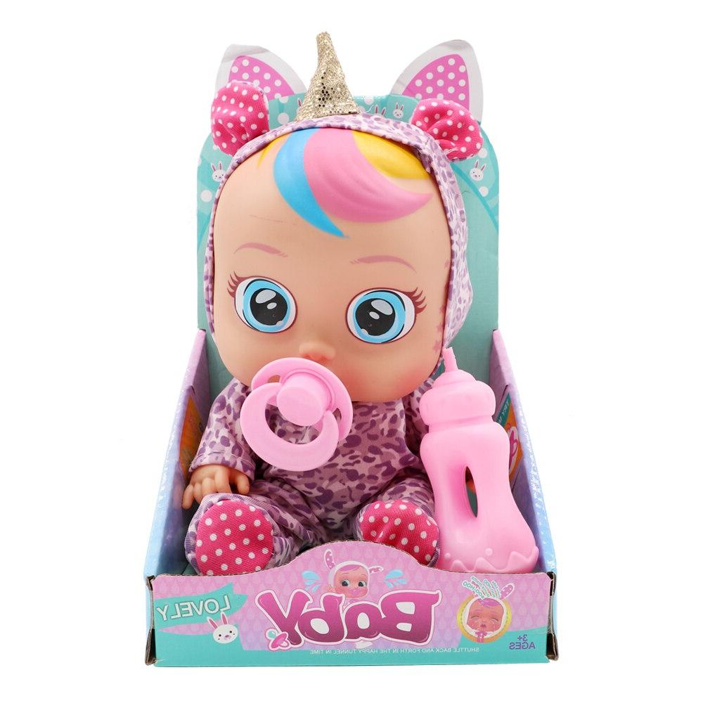 Original Unicorn Silicone Cry <font><b>Babys</b></font> Magic Tears <font><b>Dolls</b></font> LOLS For Children Toys