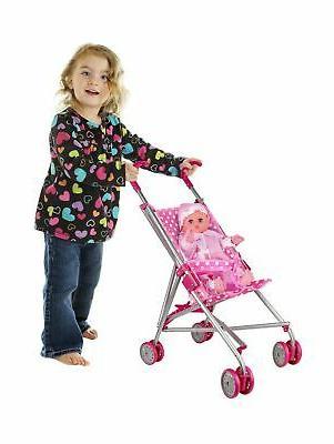 Precious White Polka Doll Stroller wheels