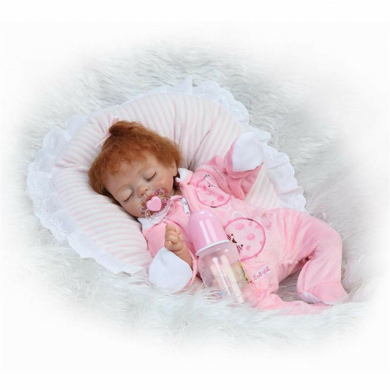 "Size 17"" Reborn Baby Dolls Girl Real Child Toddler Girl Doll"