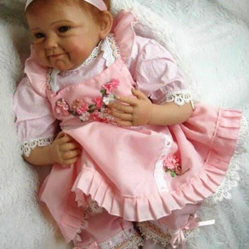 "22"" Lifelike Reborn Baby Doll Handmade Silicone Full Body Vi"
