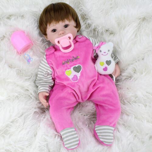 Realistic Girl Newborn Lifelike Alive Reborn Doll Toy