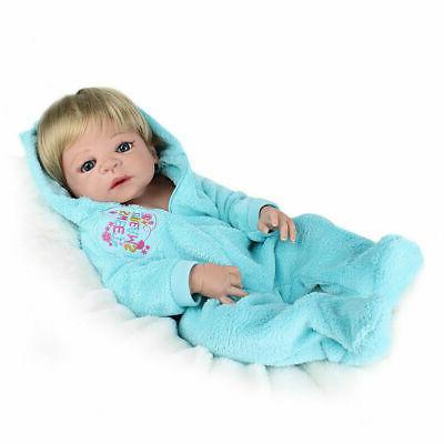 "Realistic 22"" Full Soft Vinyl Silicone Newborn Doll"
